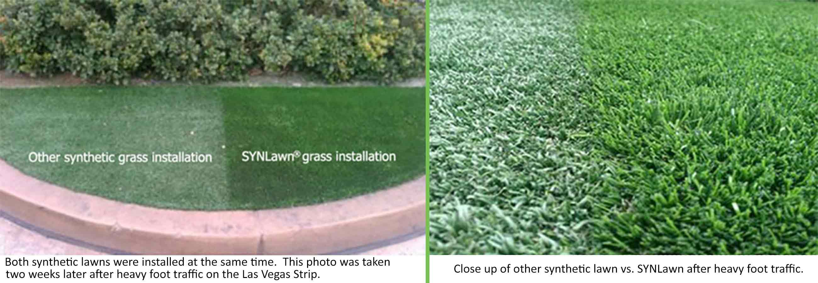 SYNLawn grass installation vs. Other synthetic grass installation